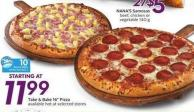 Take & Bake 16in Pizza - 10 Air Miles Bonus Miles