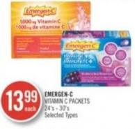 Emergen-c Vitamin C Packets 24's - 30's