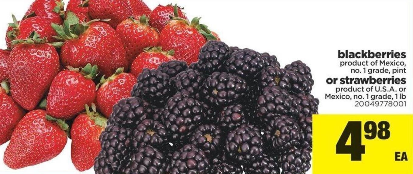 Blackberries - Pint Or Strawberries - 1 Lb