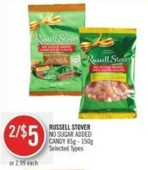 Russell Stover No Sugar Added Candy 85g - 150g
