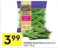 Mann's Snow Peas Product of USA 170 g