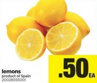 Lemons Product of Spain