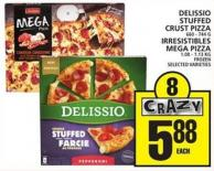 Delissio Stuffed Crust Pizza Or Irresistibles Mega Pizza