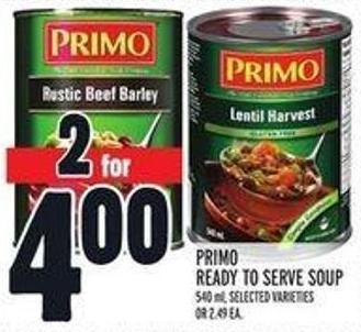 Primo Ready To Serve Soup