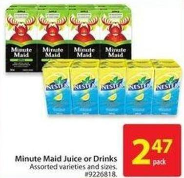 Minute Maid Juice or Drinks