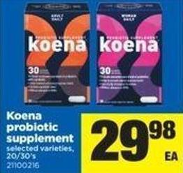 Koena Probiotic Supplement - 20/30's