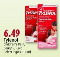 Tylenol Children's Pain - Cough & Cold