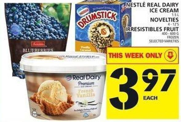 Nestlé Real Dairy Ice Cream Or Novelties Or Irresistibles Fruit