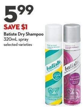 Batiste Dry Shampoo 320ml Spray