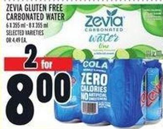 Zevia Gluten Free Carbonated Water