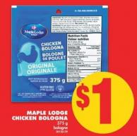 Maple Lodge Chicken Bologna - 375 G