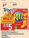 Christie Ritz - Toppables Or Triscuit Crackers - 100-180 g