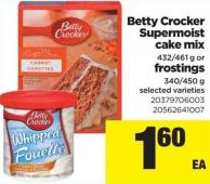 Betty Crocker Supermoist Cake Mix 432-461 G Or Frostings 340-450 G