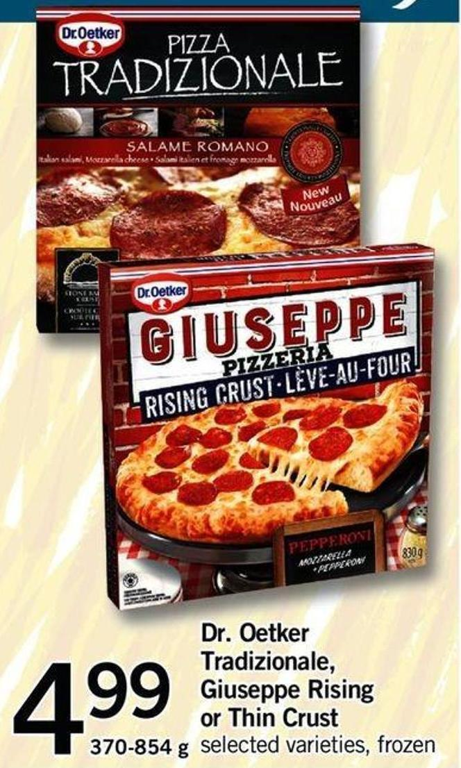 Dr. Oetker Tradizionale - Giuseppe Rising Or Thin Crust - 370-854 G