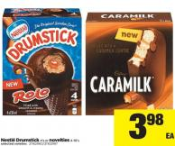 Nestlé Drumstick - 4's Or Novelties - 4-10's