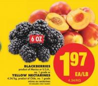 Blackberries - 6 Oz or Yellow Nectarines