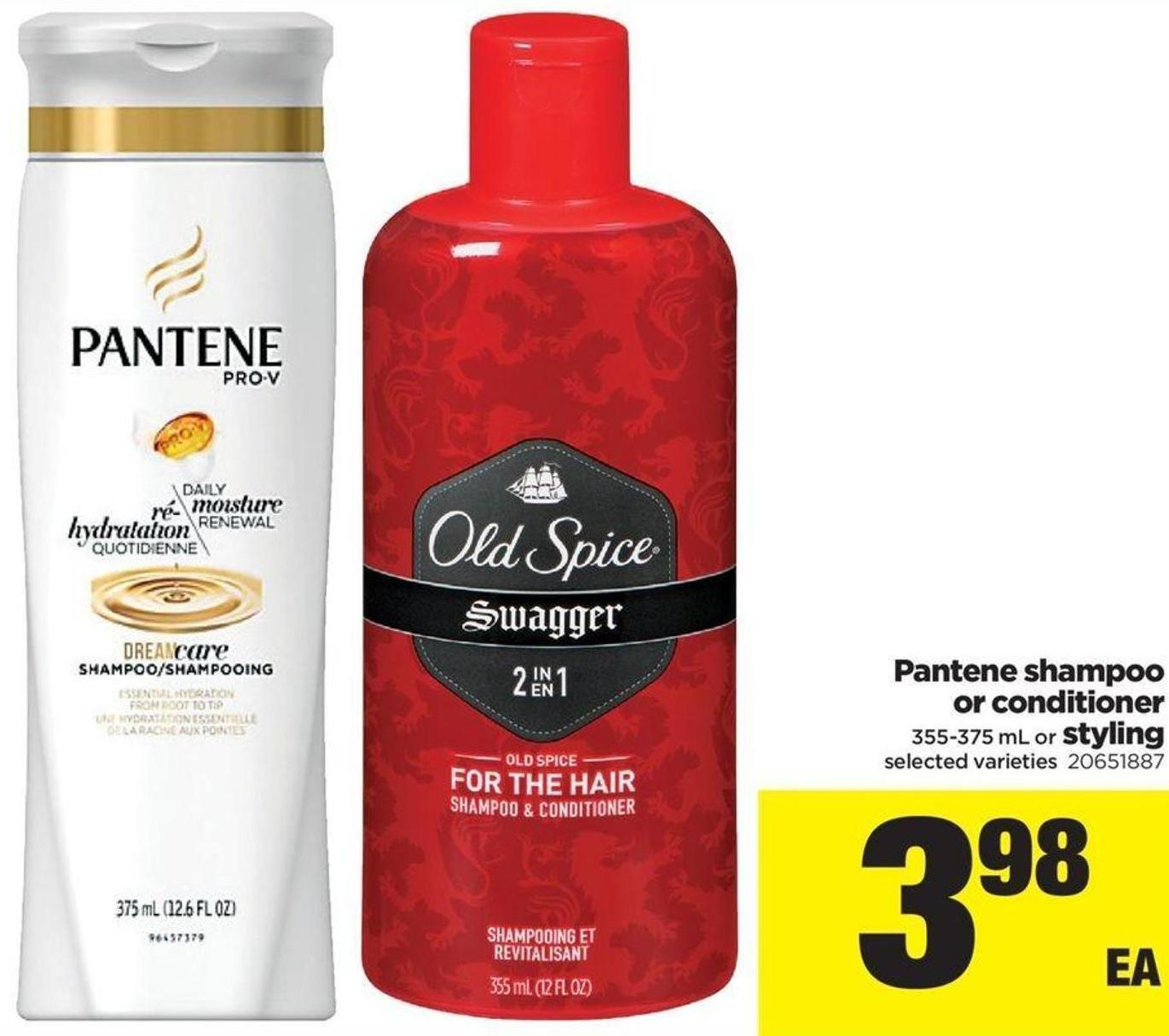 Pantene Shampoo Or Conditioner - 355-375 mL or Styling