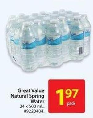Great Value Natural Spring Water