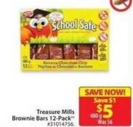 Treasure Mills Brownie Bars 12-pack