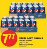 Pepsi Soft Drinks - 24x355 mL