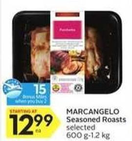 Marcangelo Seasoned Roasts - 15 Air Miles Bonus Miles