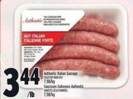 Authentic Italian Sausage