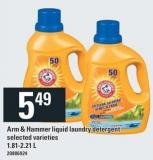 Arm & Hammer Liquid Laundry Detergent - 1.81-2.21 L
