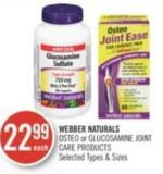 Webber Naturals Osteo or Glucosamine Joint Care Products