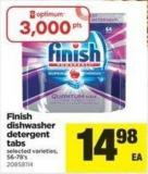 Finish Dishwasher Detergent Tabs - 56-78's