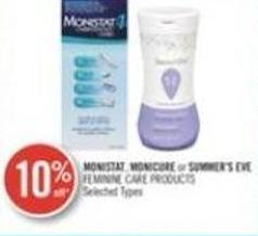 Monistat Monicure or Summer's Eve Feminine Care Product