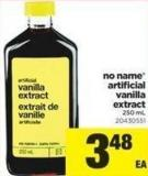 No Name Artificial Vanilla Extract - 250 mL