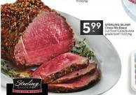 Sterling Silver Cross Rib Roast