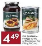 E.d. Smith Pie Filling