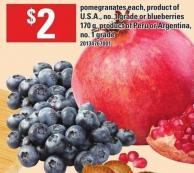 Pomegranates - Each Or Blueberries - 170 g