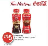Tim Hortons Iced Coffee Beverages 340ml