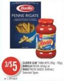 Clover Leaf Tuna Kits (90g - 99g) - C Pasta (454g) or Ragu Pasta Sauce (640ml)