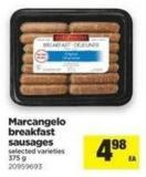 Marcangelo Breakfast Sausages - 375 g