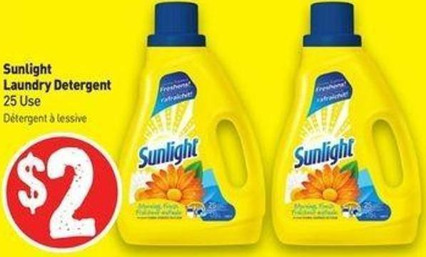 Sunlight Laundry Detergent 25 Use