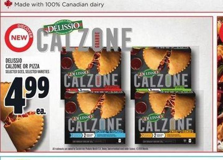 Delissio Pizza Or Calzone On Sale Salewhale