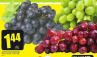 Red - Green or Black Seedless Grapes Product of Chile - No. 1 Grade 3.17/kg