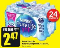 Nestlé Pure Life Natural Spring Water 24 X 500 mL