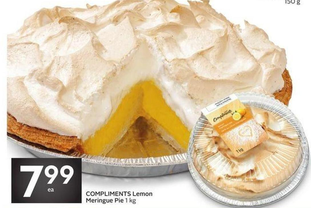 Compliments Lemon Meringue Pie