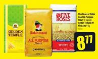 Five Roses or Robin Hood All Purpose Flour 10 Kg Bag Golden Temple  Fine Atta 9 Kg