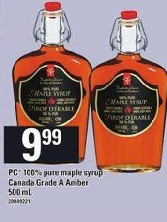 PC 100% Pure Maple Syrup - 500 mL