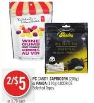 PC Candy - Capricorn (200g) or Panda (170g) Licorice