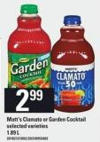 Mott's Clamato Or Garden Cocktail - 1.89 L