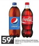 Pepsi or Coca-cola Soft Drinks - Brisk Tea or Aquafina or Dasani Water