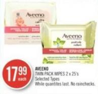 Aveeno Twin Pack Wipes 2 X 25's