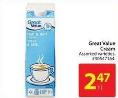 Great Value Cream