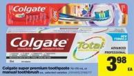 Colgate Super Premium Toothpaste - 70-170 mL Or Manual Toothbrush - Ea.